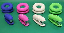 Bright Coloured Drewdle Stationery for Office Desk 26/6 Stapler, 2 Hole Punch