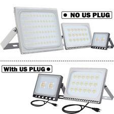 LED Flood Light 500W 300W 200W 150W 100W 50W 30W 20W 10W w/ US PLUG Outdoor Lamp
