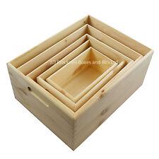 Open Wooden Box Chest Plain Box 5 sizes and set - BPU201