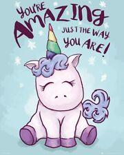 Unicorn You're Amazing Mini Poster 40x50cm
