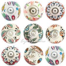 Ceramic Cabinet Dresser Door Cupboard Knobs Pulls Decorative Shabby Chic Colorfu