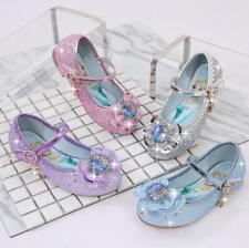 Frozen Eiskönigin Elsa Pailletten Mädchen Schuhe Kinder Einzel Schuhe Sandalen