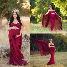 Pregnant Women Chiffon Maxi Dress Maternity Gown Photography Props Dresses Photo