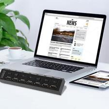 Mini Black 7Port USB 2.0 High Speed HUB ON/OFF Sharing Switch New UL UP