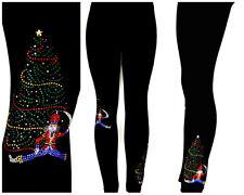 Regular or Plus Full-Length Legging Embellished Rhinestone Nutcracker Xmas Tree