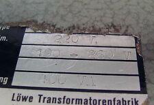 Trafo Stufentransformator Löwe Pri. 220 V Sec. 190-260 V 14 Stufen 400 VA
