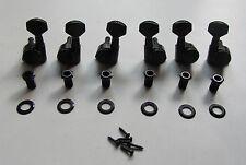 Wilkinson 3L3R Locking Tuning Keys Guitar Tuners Pegs Machine Heads Black