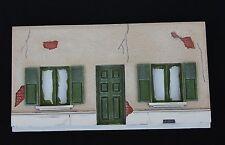FO Façade 1/43 diorama heco miniatures maison fenetre 19*10 cm resine voiture