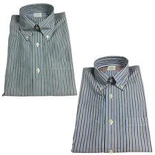 BROOKS BROTHERS camisa de hombre con botones y bolsillo 42212 algodón SUPIMA no