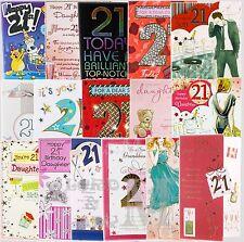 21st Birthday Card Open Son / Daughter / Granddaughter / Grandson / Family etc