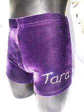 LILAC LIZARD velour pantaloncini ginnastica body personalizzato nome sulla gamba