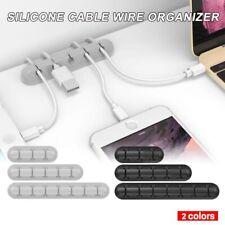 2Pcs//Lot Desktop Cable Winder Organizer Wire Drop Clips RS