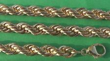 Kordelkette 5,5mm breit 5/000 Milliemes vergoldet 42 bis 100cm Cordelkette rund