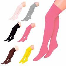 Ladies Sexy Over The Knee Socks Girls Fancy Womens Thigh High Plain Soft Socks
