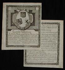 c1790 Wappen Amerika Indien Herzogtümer Dukedom of Luxemburg Limburg Kupferstich