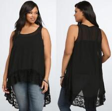 Fashion Women A-Line Tunic Sleeveless Loose Top Blouse Chiffon T-Shirt Plus Size