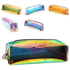 PVC Laser transparent Reflective Fashion PencilsBags Soft Pencils Case Dura J4J2