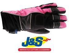 J&S BEVERLEY 9040 LADIES MOTORCYCLE GLOVE WOMENS WATERPROOF GLOVES PINK  J&S