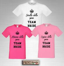 T-shirt Addio al Nubilato Team Bride Maglietta Ragazza Sposa Divertente Squadra