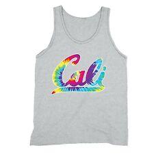 Cali Neon Tanktop California State Tie Dye Rave Party Beach Vacation Tank