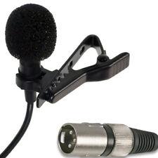 48v Alimentazione Phantom Videocamera Microfono Professionale LAVALIER MINI Clip per collare bavero Tie