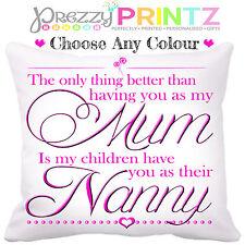 ❤ MOM MUM MOTHERSDAY NAN NANNY GRANDMOTHER GIFT CUSHION CHRISTMAS BIRTHDAY ❤