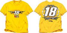 NASCAR-#18 Kyle Busch Fan Up T-Shirt ( Yellow )