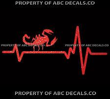 VRS Heart Beat Line ANIMAL INSECT Scorpion Predator Arachnid CAR METAL DECAL