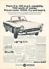 1967 Sunbeam Alpine rootes Classic Advertisement Ad A6B