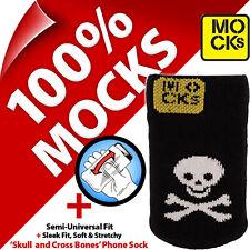 Prende in giro con Teschio e Ossa incrociate Pirata Jolly Roger cellulare MP3 SOCK CASE COVER