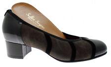 8301 scarpa donna decoltè vernice  nero tundra multicolore plantare ortopedico S