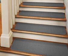 Set of 15 TAPE-DOWN Carpet Stair Treads GRAY runner rugs
