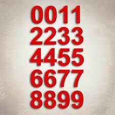 Red Vinyl Custom Number Decal Sheet Mailbox Address Street Sticker Kit