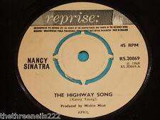 "VINYL 7"" SINGLE - NANCY SINATRA - HIGHWAY SONG - RS.20869"