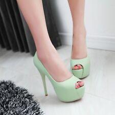 Womens Platform Peep Toe Super High Heels Stilettos Party Pumps Shoes