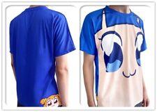 POP TEAM EPIC Pipimi Popuko Face TEE T-shirt Sweatshirt Unisex Blue Cute Anime