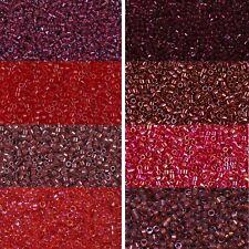 Miyuki delica beads aproximadamente 11/0 1,6mm rojo oscuro, granate, burdeos a 5 gramos