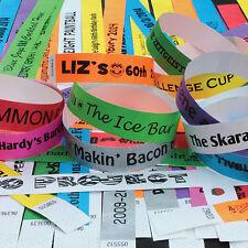 Imprimé parti 19mm les bracelets tyvek. idéal pour les fêtes, festivals et événements