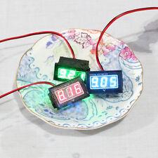 12V Battery Meter 2.5-30V DC Auto Gauge Digital Voltmeter LED Waterproof Monitor