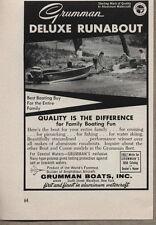 1958 Vintage Ad Grumman Deluxe Runabout Boats Marathon,New York