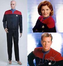 Star Trek Voyager Captain Command Kirk Red Uniform Cosplay Costume Full Set NN.1