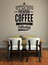"""""""il Caffè Forte Premium"""" - Grande adesivo ideale per ristorante Adesivi Da Parete Decalcomania"""