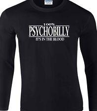Psychobilly Manga Larga 100% Camiseta Punk Rockabilly Regalo