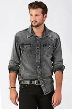 True Religion Men's Jake Western Corduroy Shirt Iron Wash MA208RG8