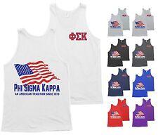 Phi Sigma Kappa PSK Fraternity Bella+Canvas Tank Top American USA Flag Shirt