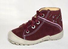 Bama Boots Halbschuhe Übergang Schuhe Bordeauxrot Leder neu 21-25 Mädchen 46344
