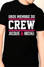 Tee-shirt Gros membre Jacquie et Michel 12270 Noir