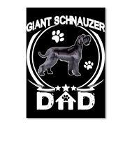 Giant Schnauzer Dad Fathers Day Gift Sticker - Portrait