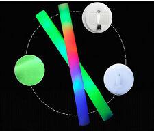 HOT!!2/5PCS Light-Up Foam Sticks LED Rally Flashing Glow Stick Baton Wands