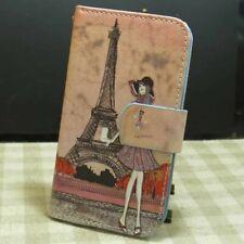 1x Fille à Paris Housse Etui Coque Wallet Flip case cover pour Divers téléphone